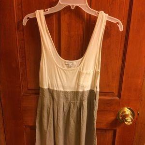 Dual color tank dress
